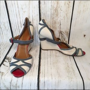 Miss Sixty Size9Red, White, &Blue Wedge Heels